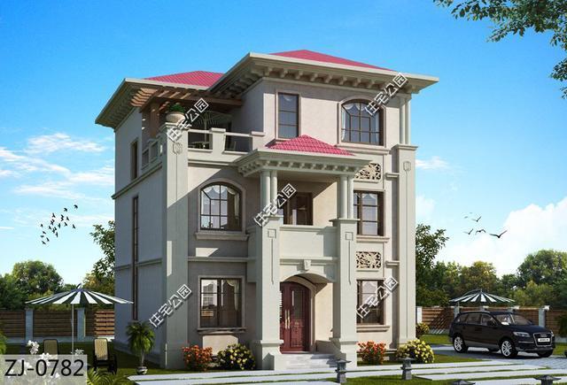 大胆创别墅才会大栋_9x12米农村别墅,三层小户型别墅,占地面积100平大家都
