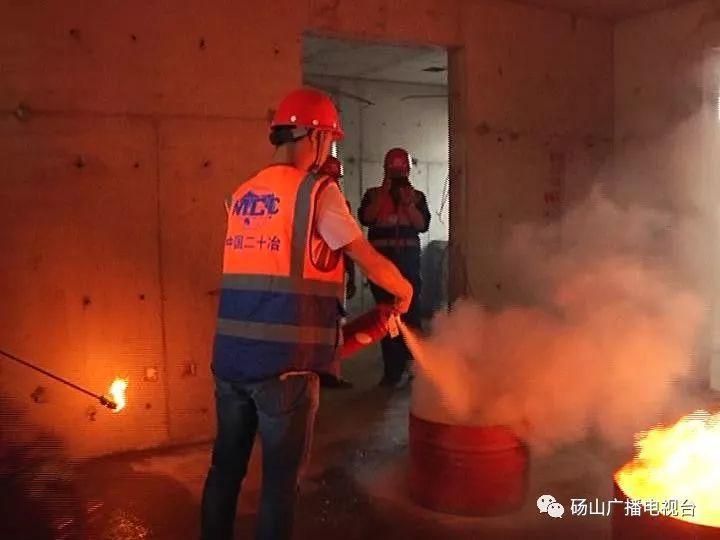 砀山县住建局组织开展建筑施工工地消防应急演练活动