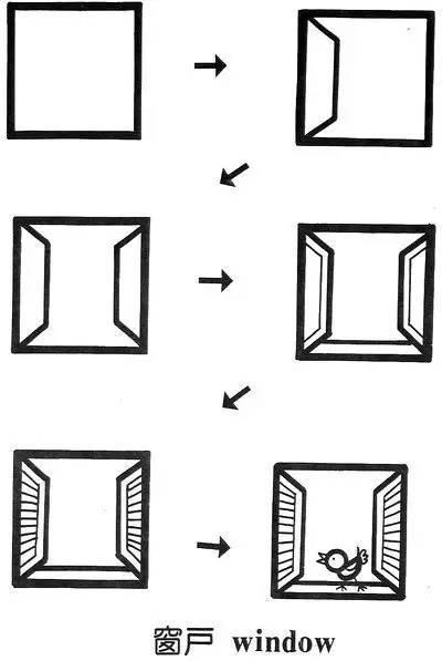 简笔画简单画 正方形简笔画17 窗户
