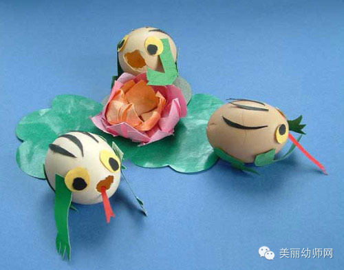 【手工制作】幼儿创意手工作品——要被玩坏了的蛋壳!