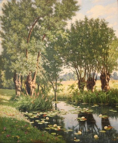 世界经典油画赏析_油画世界:法国风景画家henri biva油画欣赏