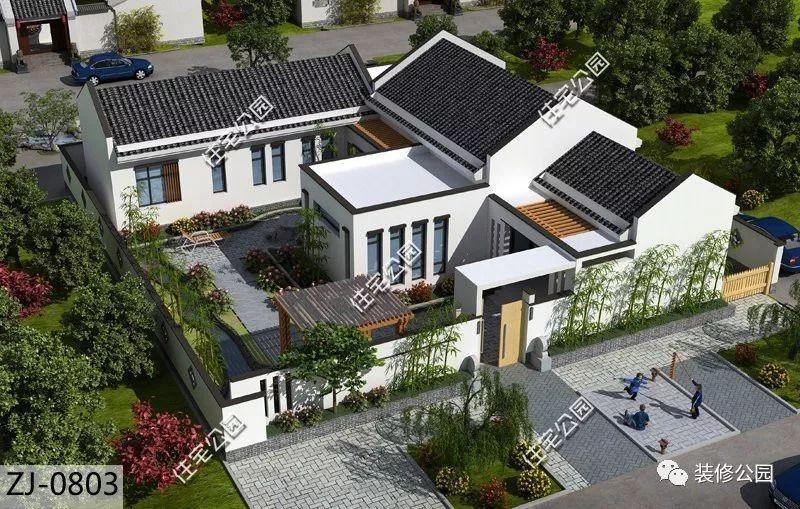 中年人,坐标四川 预算投资38万 业主要求: 一层新中式别墅,带小院图片
