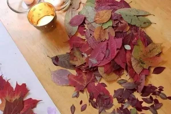 丝带树叶制作图解