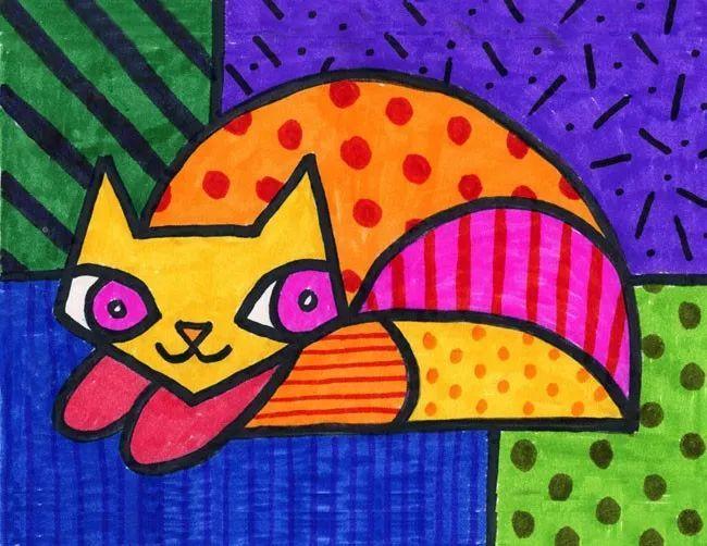 照这样画,小学生也能成为艺术大师!图片