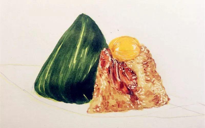 端午特制 用马克笔画颗板栗叉烧粽吧