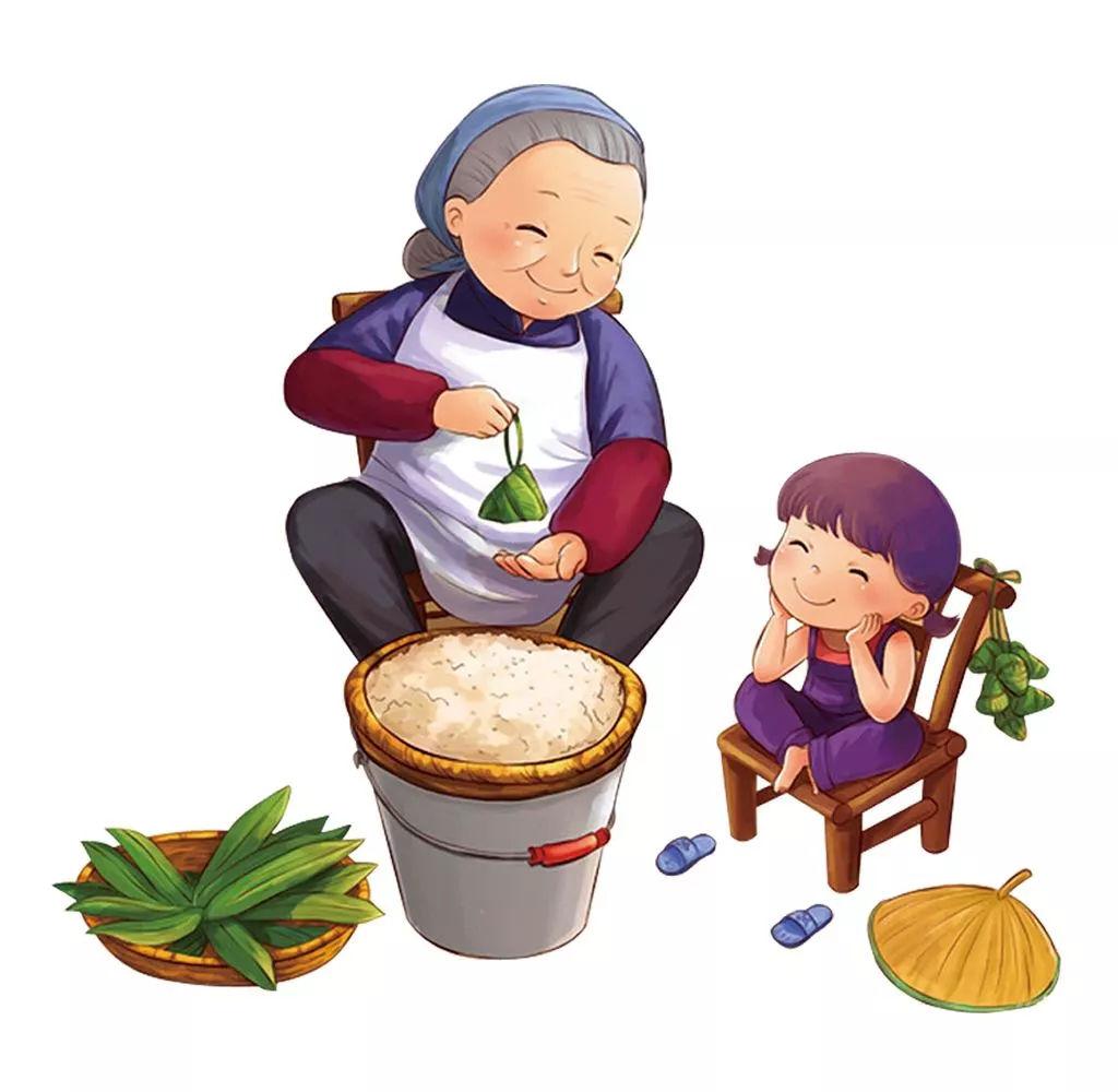 端午节食粽   端午节吃粽子,   又是一传统习俗.