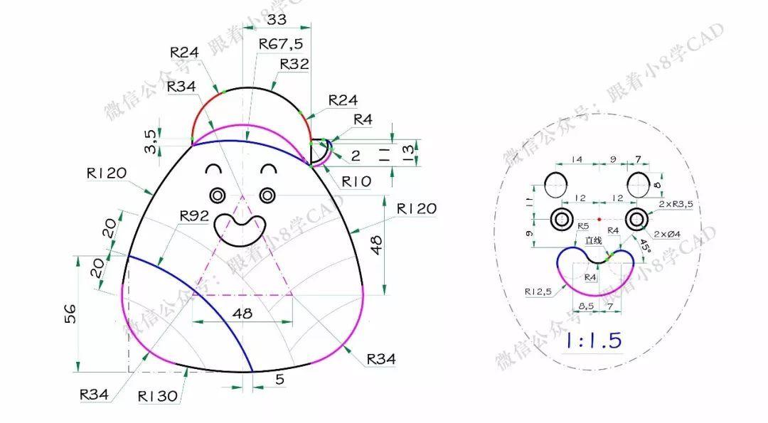 工程图 简笔画 平面图 手绘 线稿 1080_595