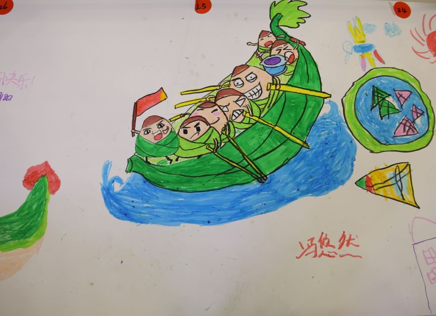 扬中月星家居端午节 欢乐粽动员 儿童包粽子 绘画活动圆满结束