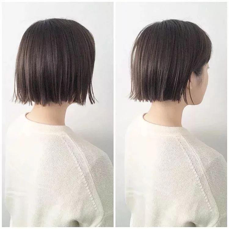 夏季剪一个短发发型形象焕然一新,满满的气质加上发尾自然的外翘,更加图片