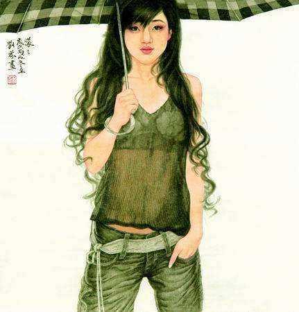 是本人体艺术_认识中国传统工笔画的色彩,欣赏工笔人体艺术画里淡雅