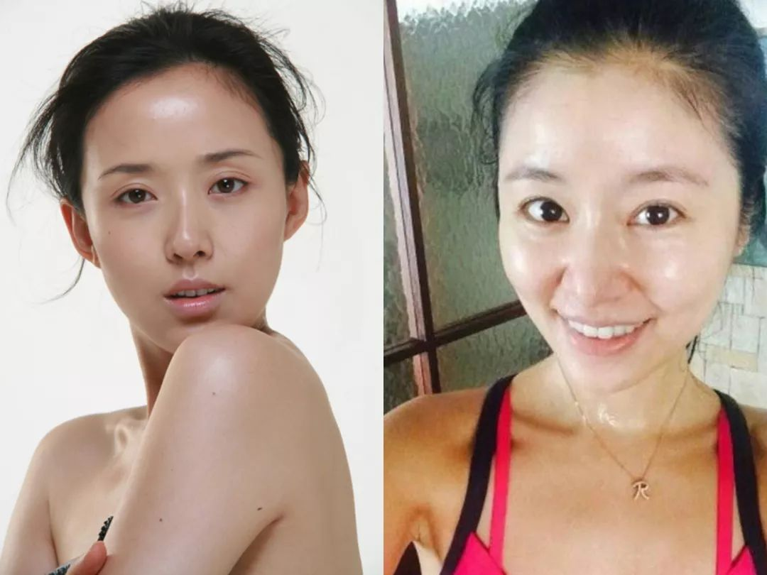 林心如42岁,颜丹晨40岁,看两人的素颜照,差得可不止2岁!图片