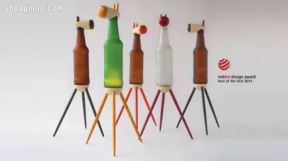 回收玻璃瓶diy手工制作超可爱动物台灯