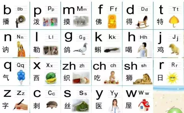 幼儿声母单韵母教学法,简单好记!拼音字母表!
