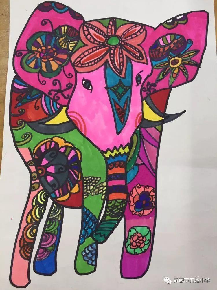 彩色装饰线描画,我们一起装饰生活图片