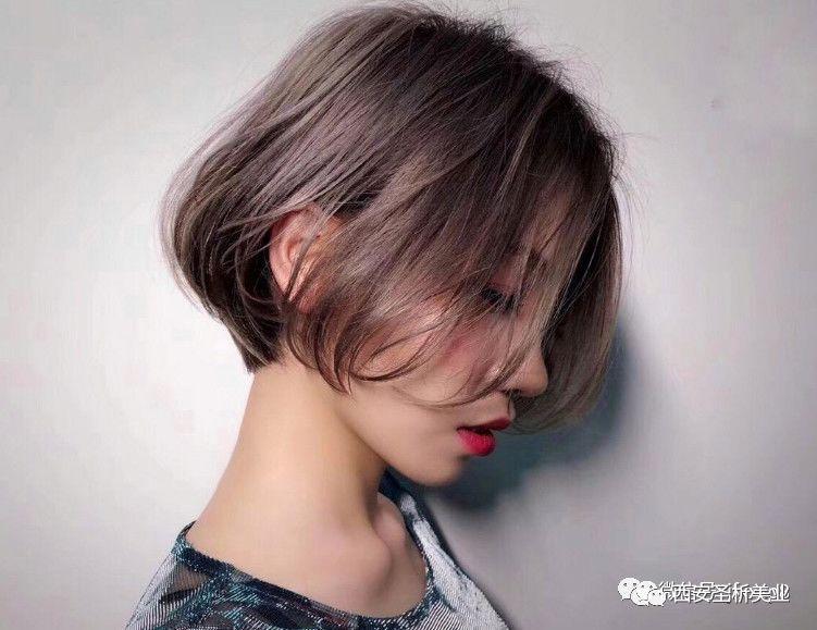 【2018-剪短发,染潮色】图片