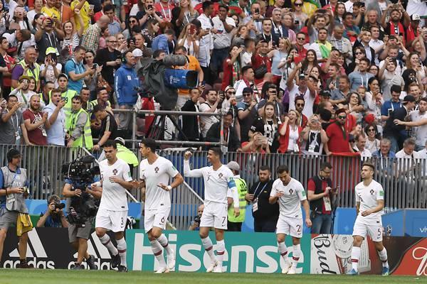世界杯-穆蒂尼奥助攻C罗闪击葡萄牙1-0摩洛哥