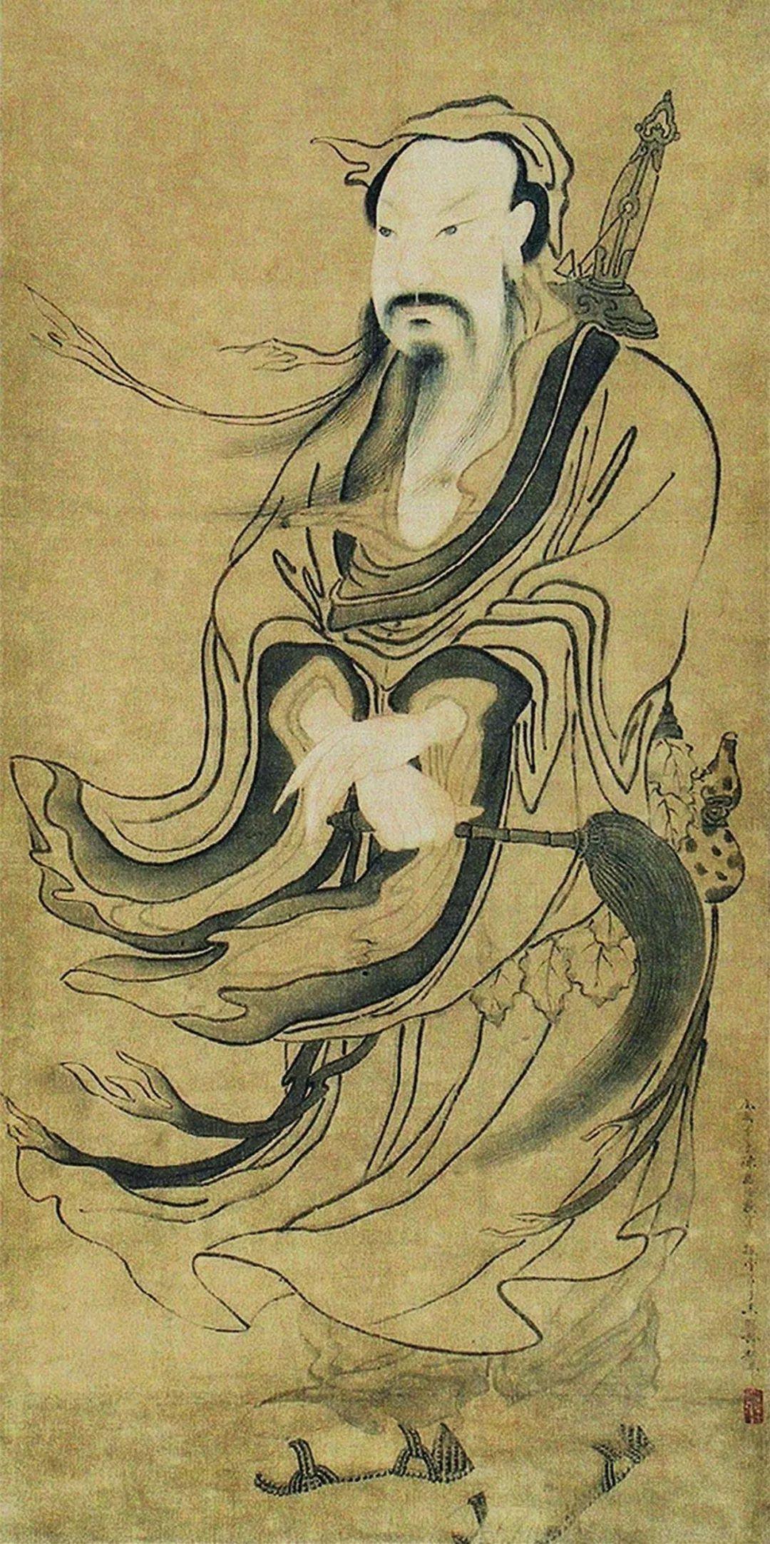 我们纯阳派的祖师爷就是吕洞宾祖师爷,之前有一个藏传佛教的居士出于图片
