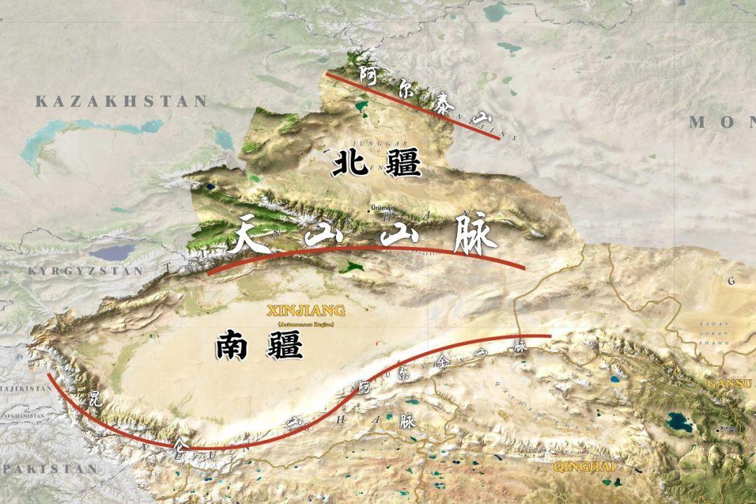 将新疆一分为二 天山以南为南疆,天山以北为北疆 这就是平时我们所说图片