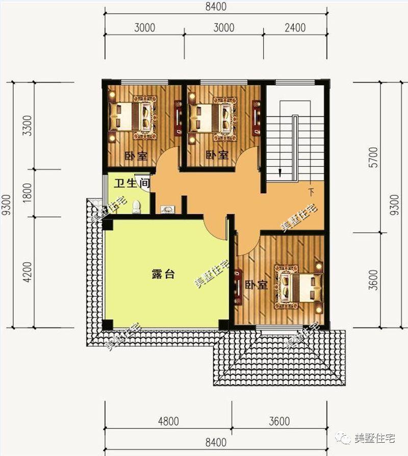 基本信息 别墅编号:ms1703036 占地尺寸:12x9.3米 占地面积:97.