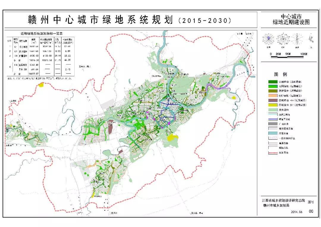 赣州中心城市绿地系统规划(2015-2030)公布