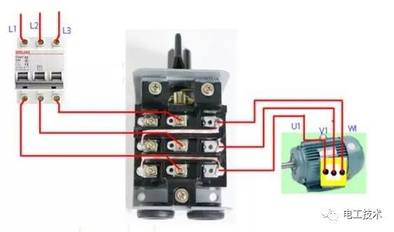 初学电工必看|接触器控制电机正反转接线方法图解