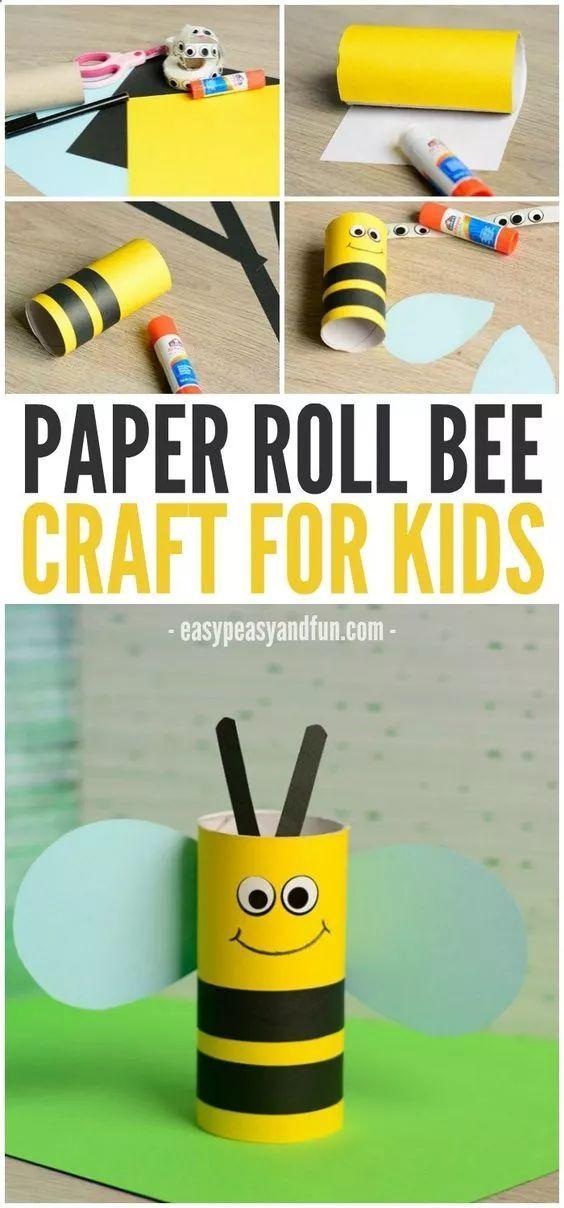 卷纸筒小蜜蜂吊饰