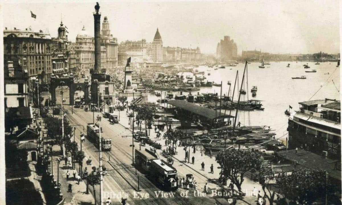20年代照片_图二:照片为上世纪20年代所拍摄的上海城市掠影,外滩的旧貌.