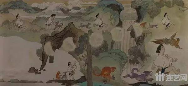 桃太郎 作者:华三川  创作年代:1981  规格:24×53cm