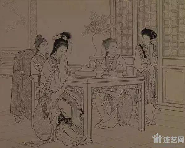 西厢记 作者:王叔晖  创作年代:1956  规格:22.2×28cm