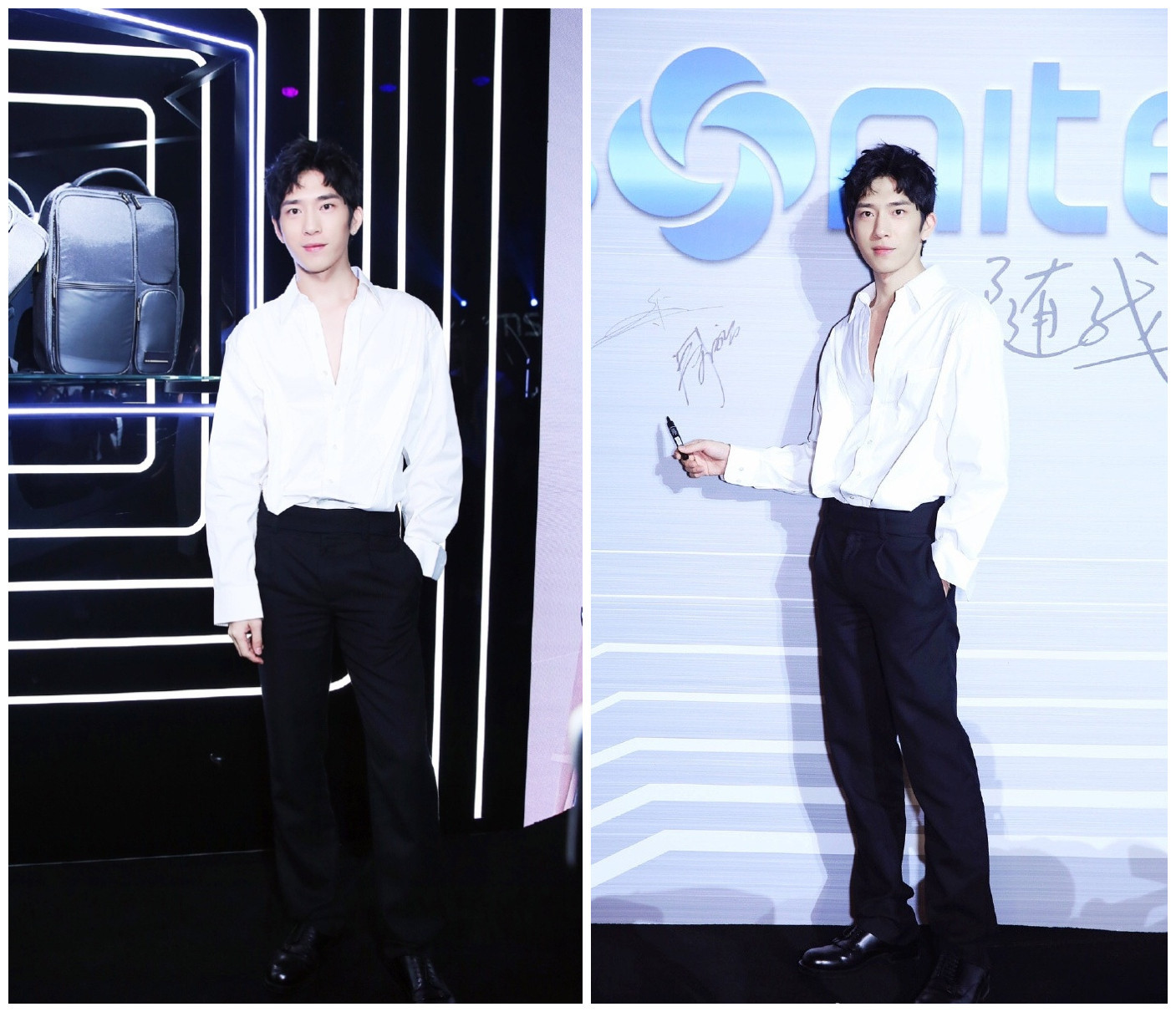 井柏然刘昊然同场观秀,连钢琴家郎朗都精心打扮,他俩却只穿白T