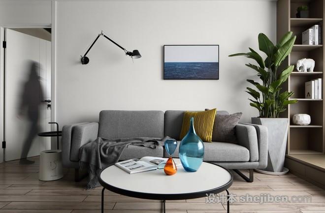 120平现代北欧设计家就该这样简单舒适