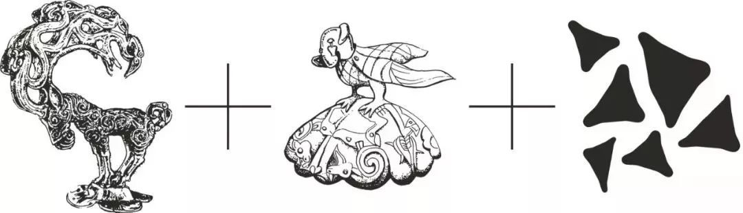 手绘石头线稿平面cad