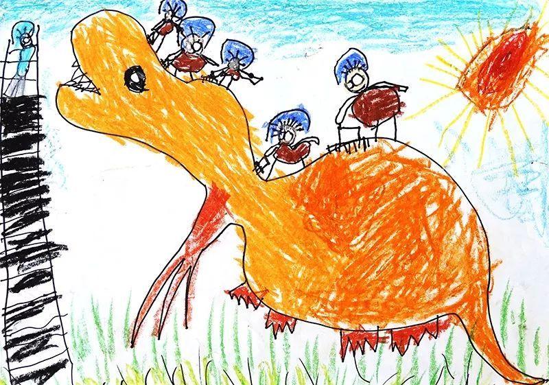 北京天安儿童手绘图片