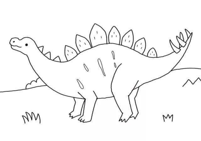 简单有趣的恐龙简笔画来了!图片