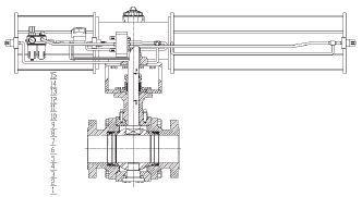 为一套双作用气动球阀的工作原理图,压缩空气(气源)首先经过过滤减压