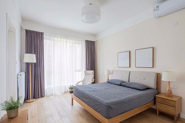 常州128平三房两厅,原木色装修,看起来非常清爽!