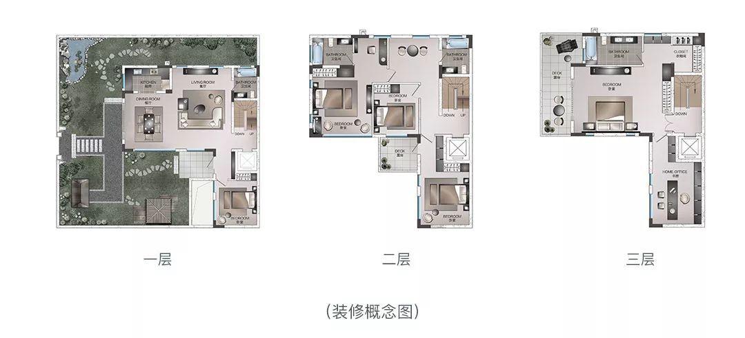 因此,无论从产品本身,还是土地资源来看,金茂的合院别墅都可谓难得.图片