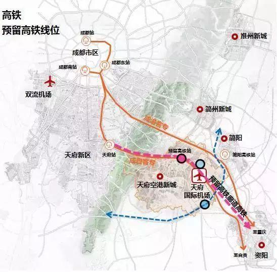3张图看清成都 东进 各大板块 交通最全规划