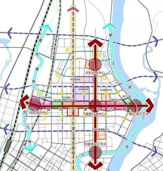 眉山北部新城规划图