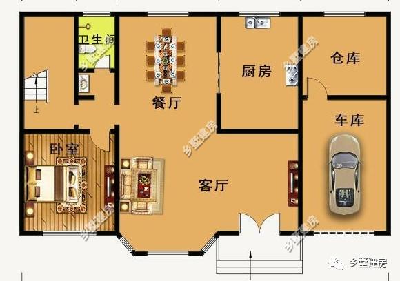 农村自建房一 占地尺寸:16.2x10.6米; 占地面积:165.
