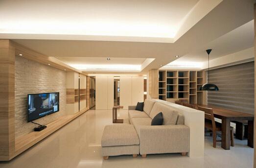 小户型的最佳选择 客厅厨房一体装修效果图