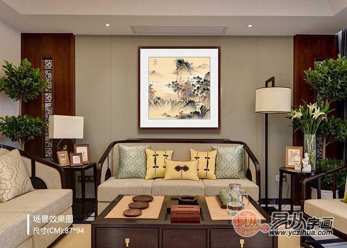 新中式客厅装饰画怎么挂更显档次?