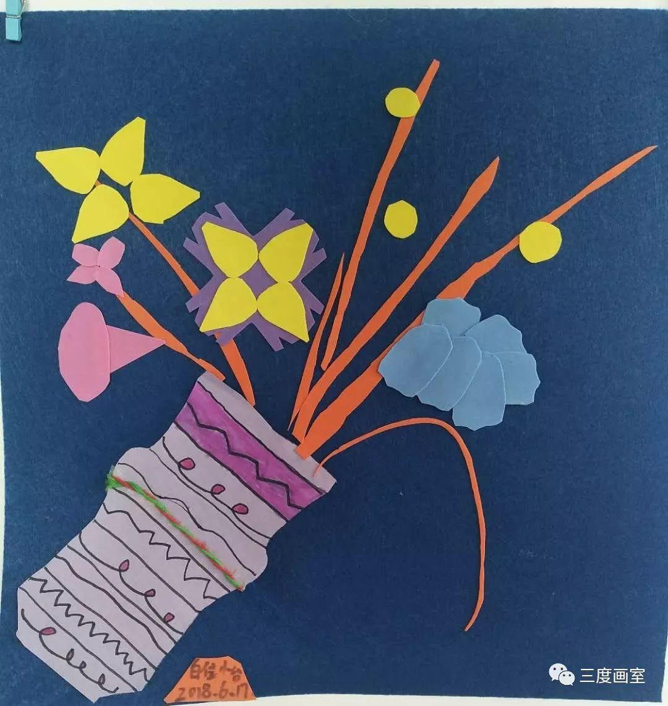【三度画室】儿童班综合材料类装饰画系列课程回顾—图片