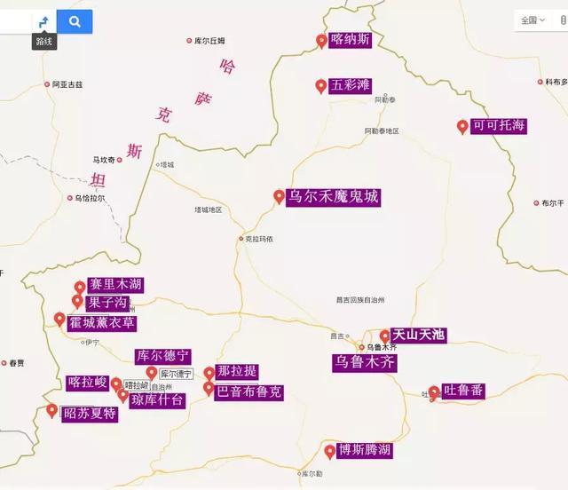 新疆旅游攻略 之 新疆景点集合详解