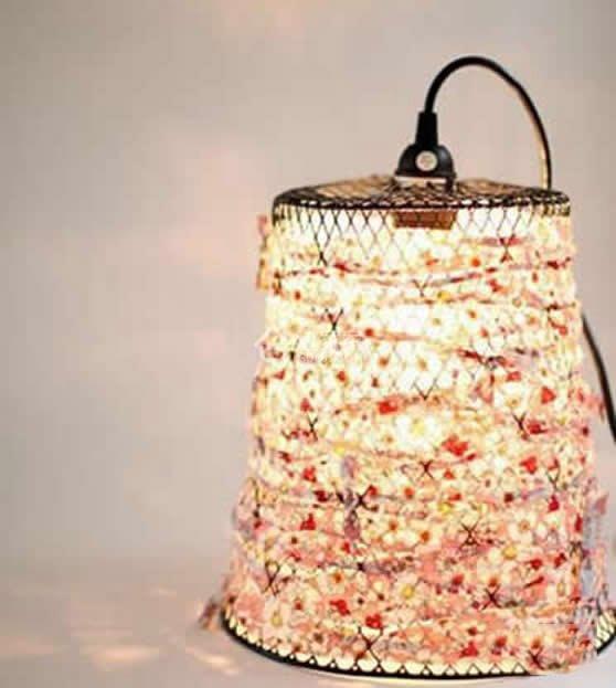 垃圾桶创意改造漂亮的diy灯罩做法!图片