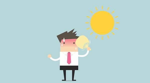 中暑前兆:大汗淋漓,浑身无力图片