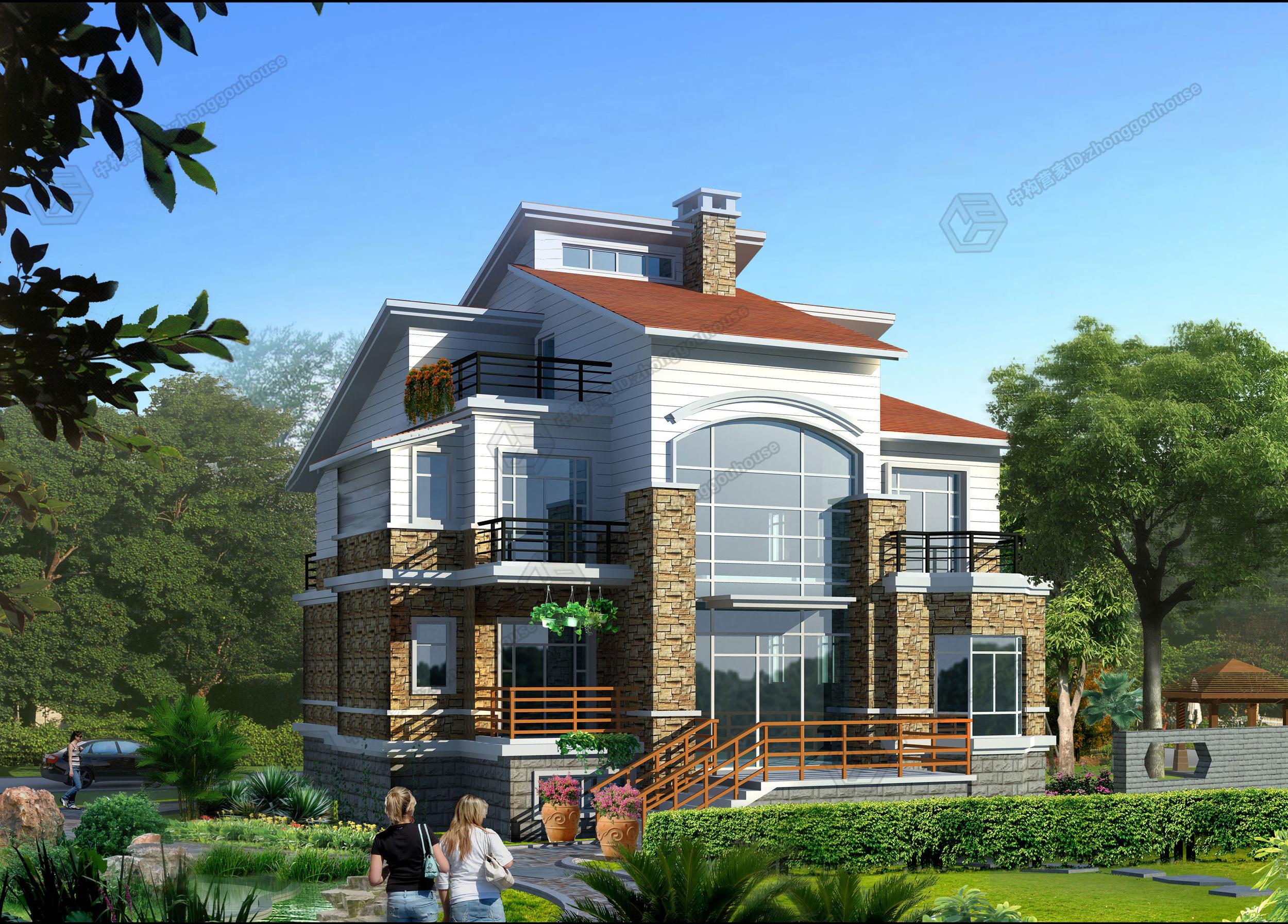 农村简单3层别墅设计图案例一