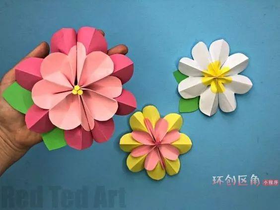 健康 正文  06 花朵吊环  07 自制皱纹纸花朵  08 立体剪纸花  09 滤