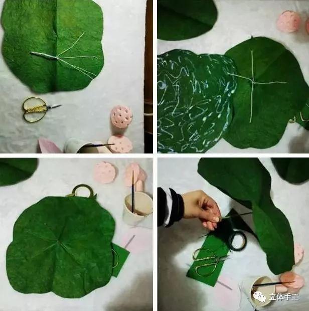 教育 正文  【制作步骤】先用超轻粘土包裹在泡沫球上,制作出荷花莲蓬