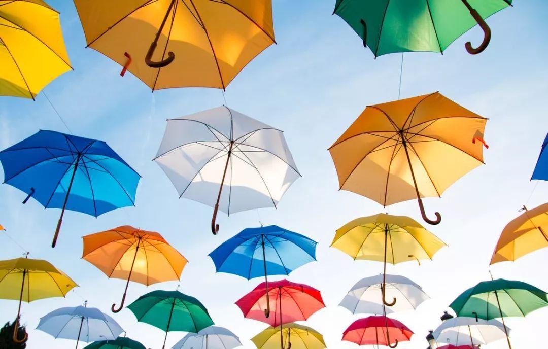 手绘爱心雨伞图片大全